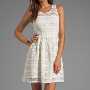 BB Dakota Jacynth Cotton Crochet Dress in Ivory